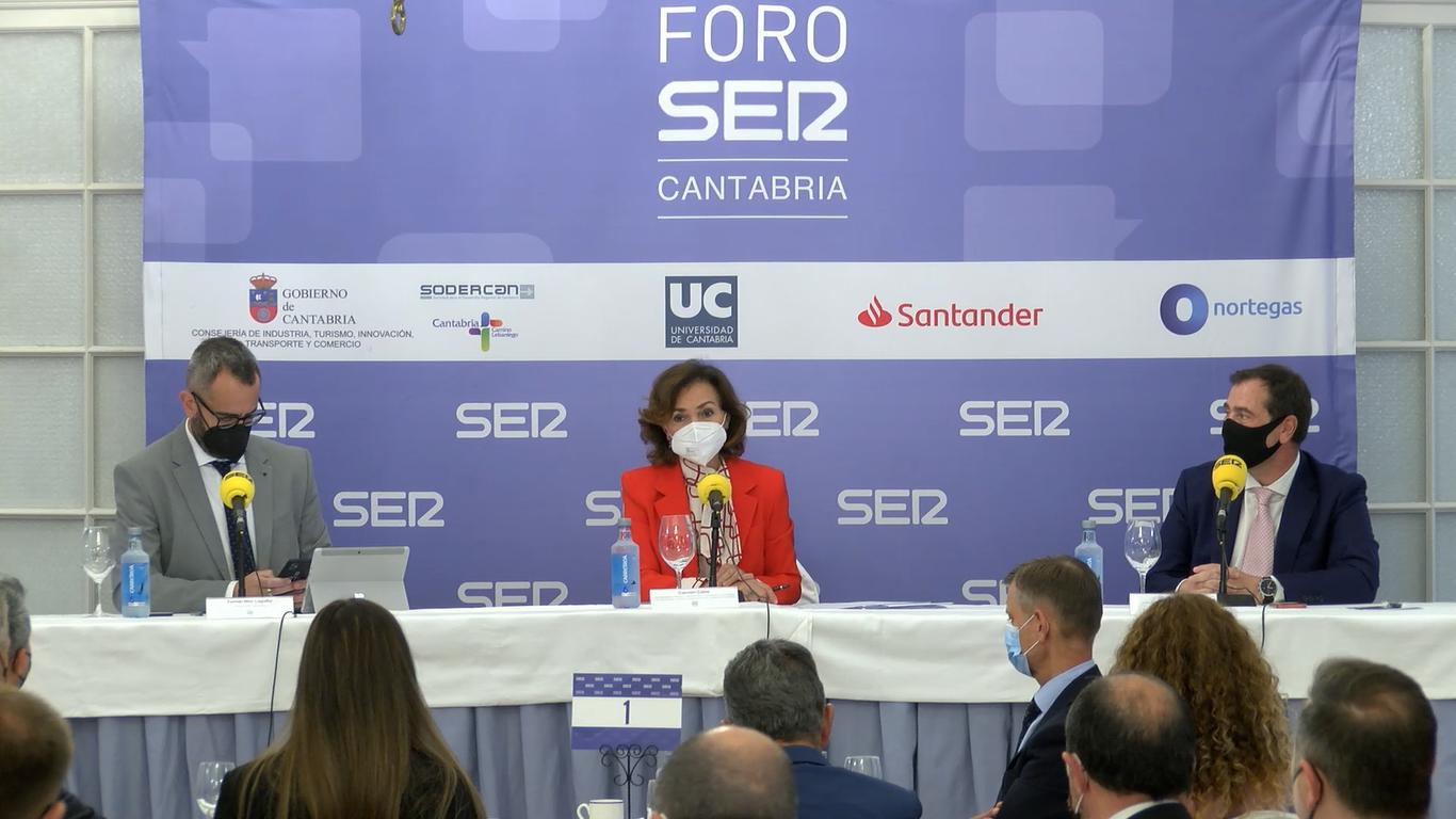 Carmen Calvo en Foro SER Cantabria